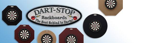 Dart-Stop Dartboard Backboards, The Best Behind in Darts, 2 shapes, 2 sizes, 3 colors