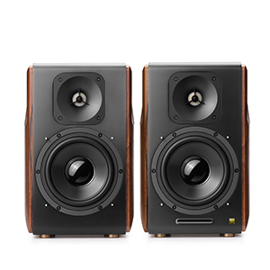 S3000Pro Edifier speakers music bass active 2.0 wireless monitor speakers black brown wood RCA
