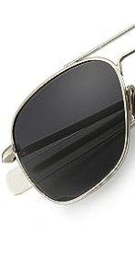 Men's Military Style Polarized Pilot Sunglasses