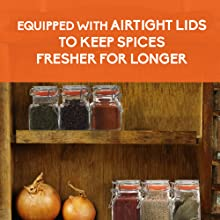 airtight glass containers spice jar square empty spice bottles spice rack organizer bottles labels