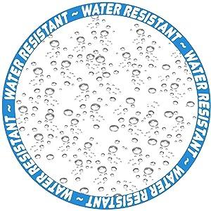 water resistant logo