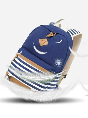 Teens Canvas Backpack Girls School Bags Set, Bookbags + Shoulder bag + Pouch 3 in 1