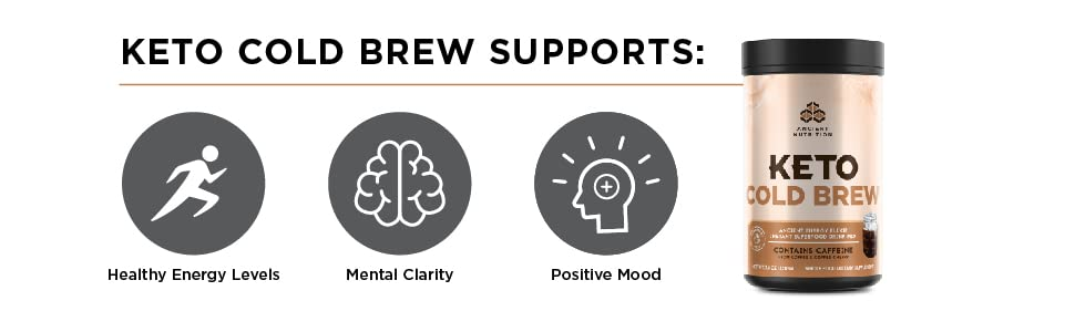 Keto Cold Brew Supports: Healthy energy levels, mental clarity, and positive mood