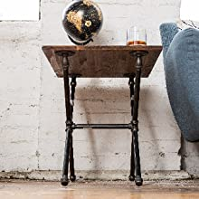 Pipe Decor End Table Legs Style Rustic Flare Kits