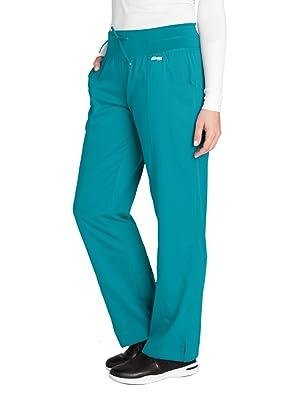 Model wearing Barco Grey's Anatomy Active Women's Yoga Scrub Pant