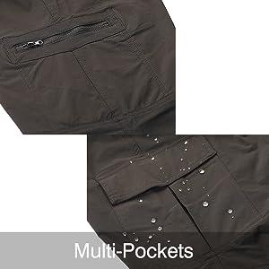 Nonwe Women's Outdoor Water-Resistant Quick Drying Lightweight Cargo Pants 17