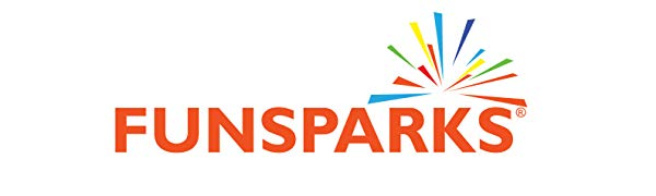 Funsparks logo for Jazzminton paddle ball racket game used at the beach or park in the summer
