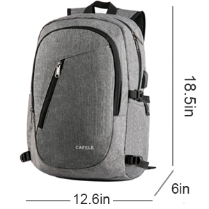 Cafele backpack for school business work travel