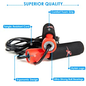 Features of the jump rope