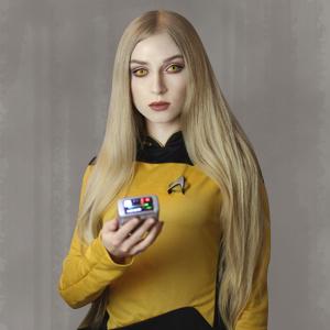 Combadge communicator bluetooth speaker music star trek spock kirk