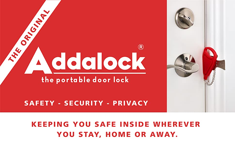 Addalock the portable door lock for travel and home security