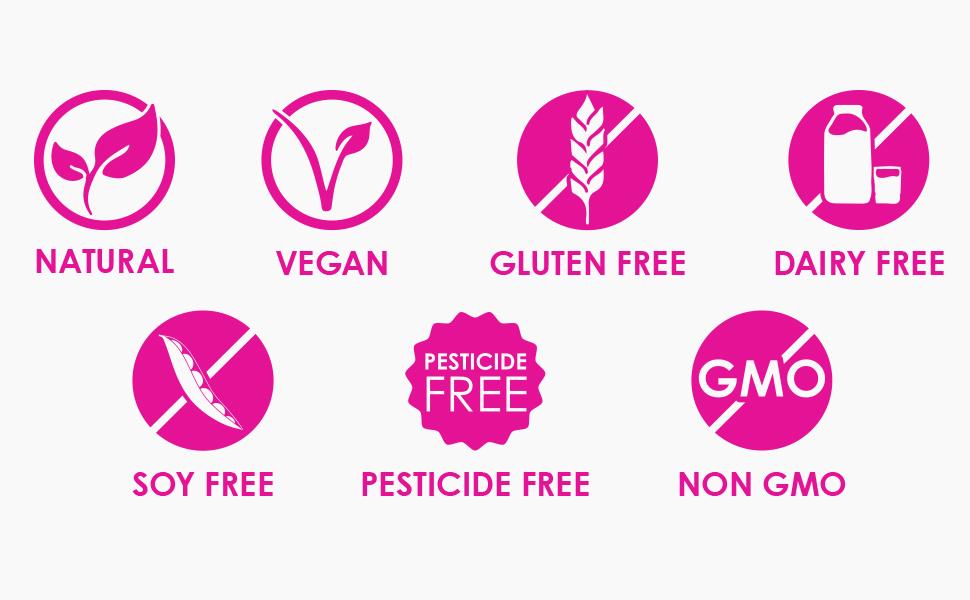 natural vegan gluten free glutenfree dairyfree soyfree pesticidefree dairy pesticide soy nongmo gmo