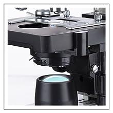 OMAX binoküler biyolojik bileşik mikroskop Değişken LED yoğunluğu iletilen aydınlatma