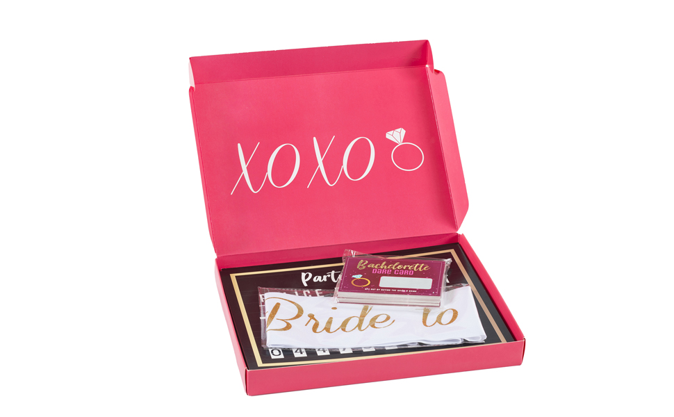 Bachelorette Party Set Pink Box