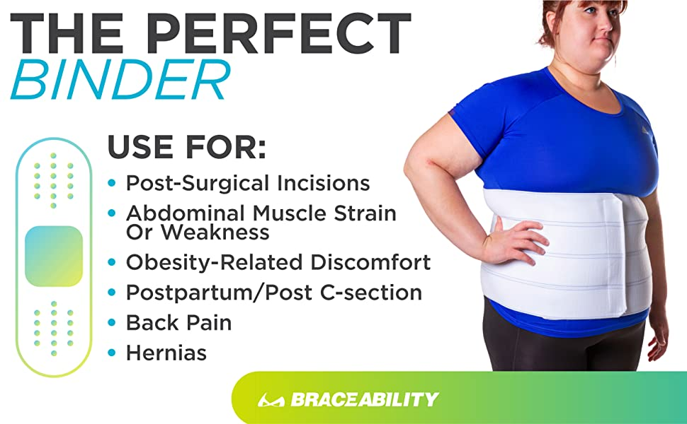 abdominal binder for obesity, postpartum and back pain