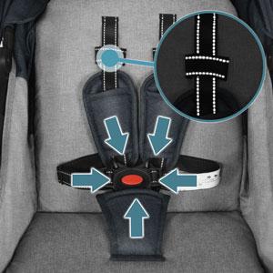 5 point harness Carrinho para Crianças Especiais Besrey Jogger Stroller Sport Strollers Jogging Pushchair 77894052 dfb0 4784 9dfa e950036055a2