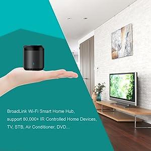Broadlink 2018 New RM-Mini3 Black Bean Universal Remote Wi-Fi + IR