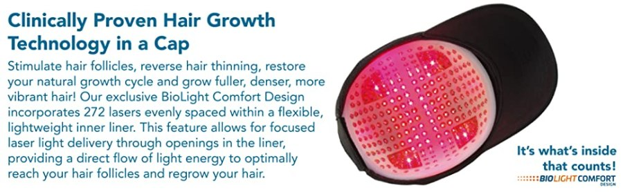 touca de cabelo clinicamente comprovada