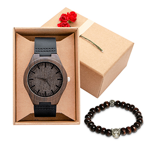 Customized Engraved Wooden Watch Casual Handmade Wood Watch for Men Husband Son Customized Gift