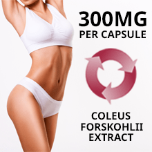 women showing benefits of forskolin extract for weight loss diet supplement with active 300mg powder