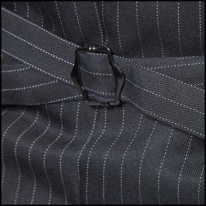 Mens Pinstripe Vest Slim Fit Formal Dress Vest Double-Breasted Business Vest