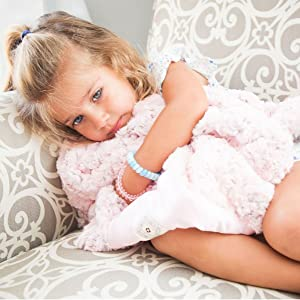 Zalamoon Strollets Plush Blankets with Satin Trim Corner for Soothing