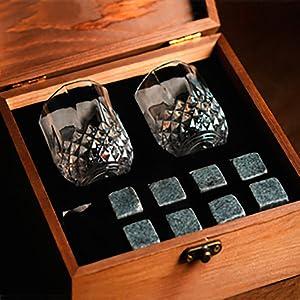 whiskey gift set, box, present, best whisky rocks, stones, set