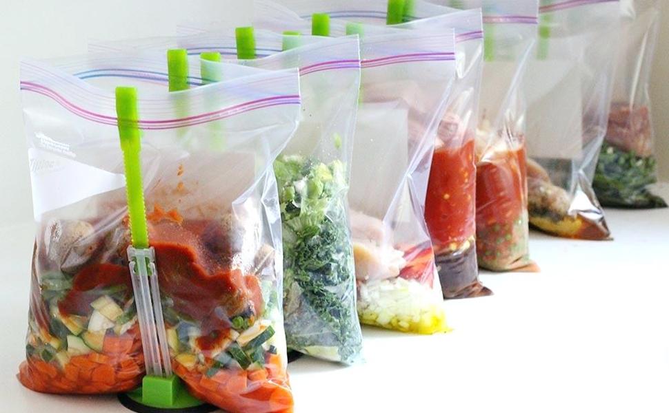 baggy rack food storage hands-free