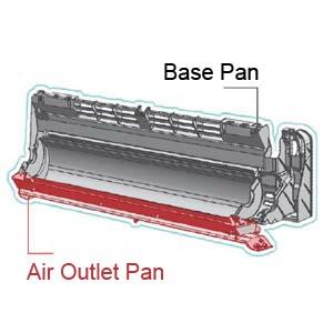 OLMO mini split air conditioner Integrated base pan