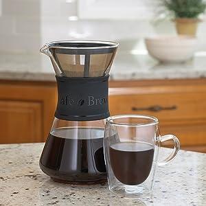 Coffee Pot Double Wall Glass Pavina
