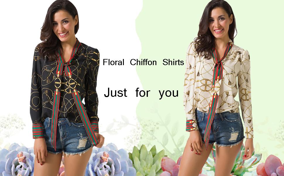 floral chiffon shirts