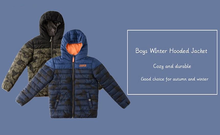 Little Big Boys Winter Tactical Puffer Quilted Jackets Camo Print Zip Up Long Sleeve Coats Outerwear