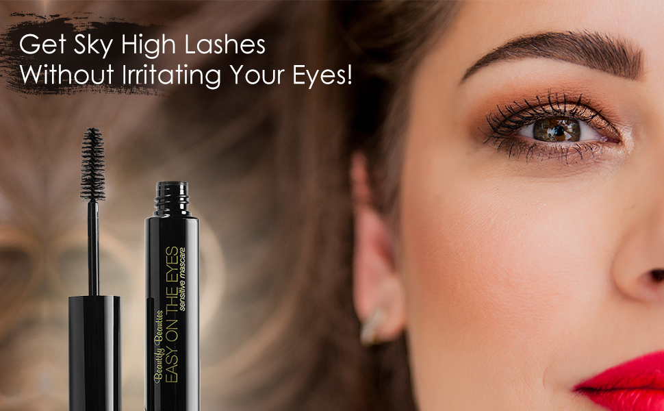 Sensitive eye mascara is blended with natural clay and wax