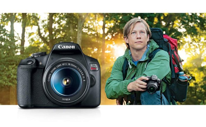Canon T7 EOS Rebel DSLR Camera t6 t7I 18-55 75-300 Compact entry-level d810 d750 d3500 d55