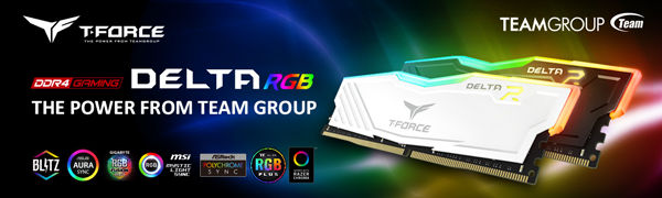 TEAMGROUP T-Force Delta RGB DDR4 16GB 2x8GB 3000MHz PC4-24000 CL16 Desktop Memory Module ram White