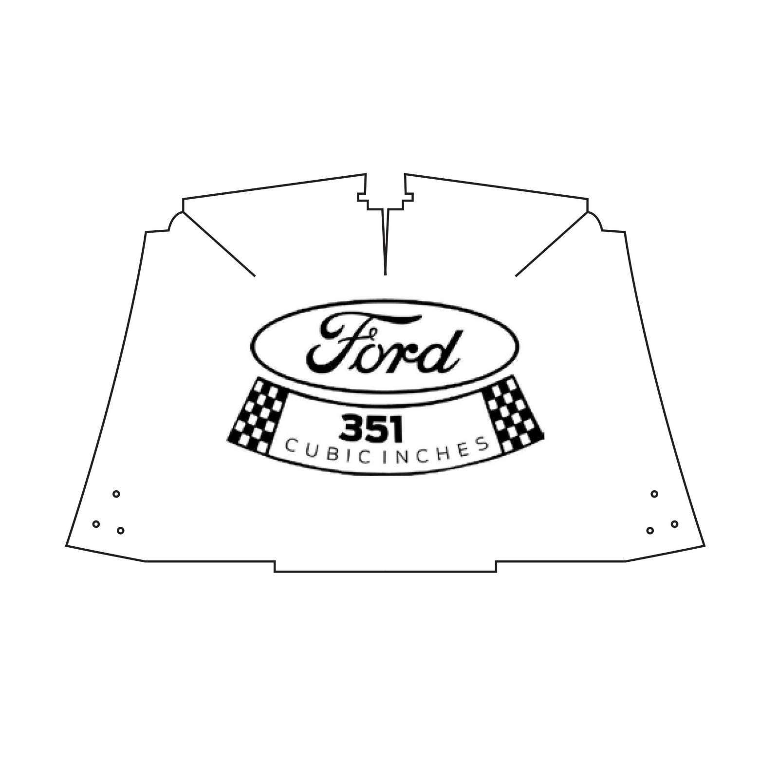 56 Ford F 100 Hood Under Cover Abs 53 56 With 351 Logo