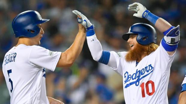 Resultado de imagen para Dodgers ganan el Juego 2 de la SCLN con el jonrón de tres carreras de Justin Turner en la 9na