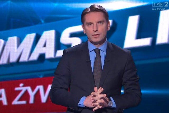"""Goście poniedziałkowego programu """"Tomasz Lis na żywo"""" dyskutowali nad problemem polskiego górnictwa."""
