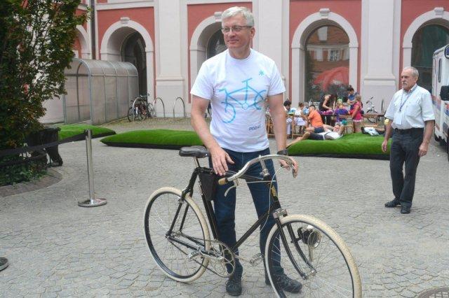 Prezydent Poznania, do pracy jeździ na rowerze