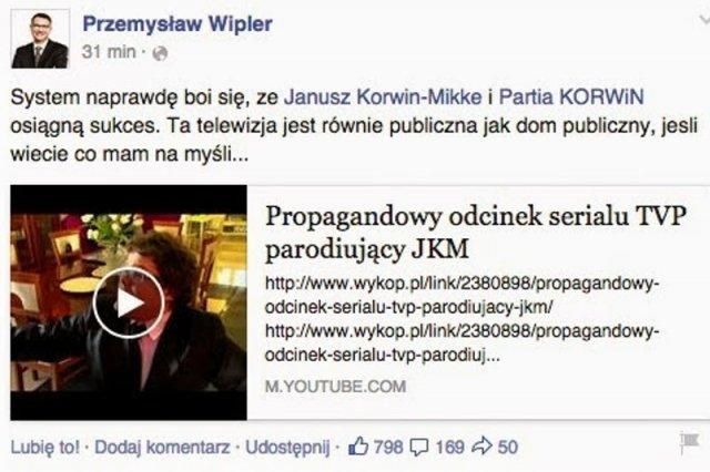 To propaganda - oburzają się zwolennicy JKM, w bohaterze serialu dopatrując się podobieństw do Janusza Korwin-Mikkego.