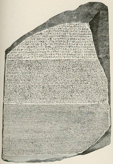 Kamień z Rosetty.