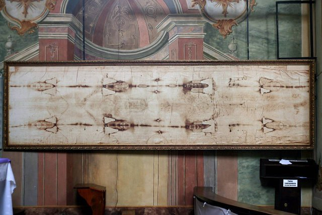 Kopia Całunu Turyńskiego w Sanktuarium Serca Jezusa Miłosiernego w Kaliszu