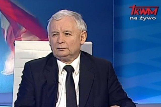 Jarosław Kaczyński na antenie TV Trwam po raz kolejny wykonał gest w kierunku Pawła Kukiza