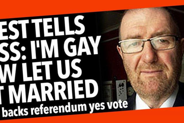 Ks. Martin Dolan z Dublina wyznał, że jest gejem, by jego wierni zagłosowali w zbliżającym się w Irlandii referendum za legalizacją małżeństw jednopłciowych.