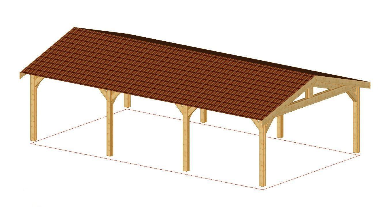 Abri 2 Pentes 45 M Garage Nea Concept