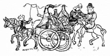 Szekerező kunok a Radziwill-kódexben