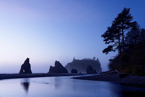 Twilight reflection, Ruby Beach