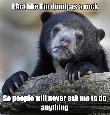 Image result for dumb as a rock