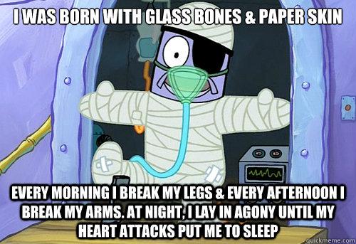 Image result for spongebob guy who breaks everything