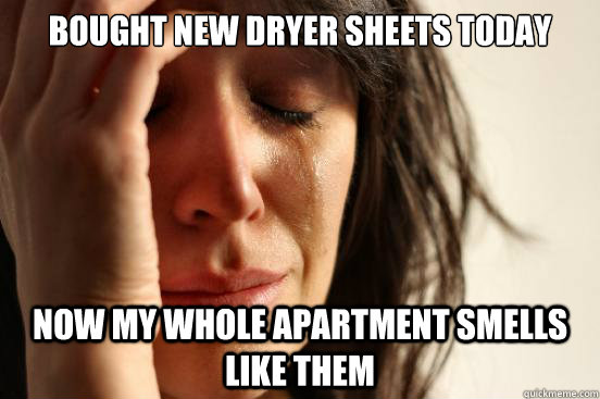 Bought New Dryer Sheets Today Now My